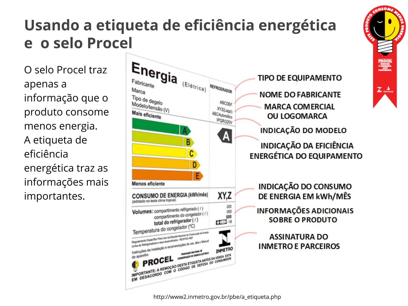 Usando o selo Procel como instrumento de eficiência energética
