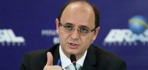 O ministro da Educação Rossieli Soares, durante a coletiva sobre as Diretrizes Curriculares Nacionais do Ensino Médio