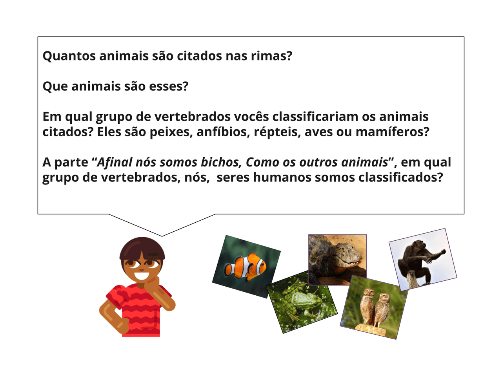 As características dos animais mamíferos