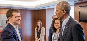 O advogado Felipe Neves, do projeto Constituição na Escola, foi um dos jovens líderes convidados a encontrar Barack Obama durante sua visita ao Brasil em 2017