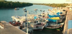 Foto do porto de Apicum-Açu