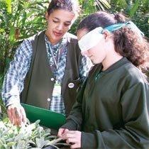 Estudante de Paisagismo de Pinhais: descobertas no Jardim Botânico, em Curitiba. Foto: Marcelo Almeida