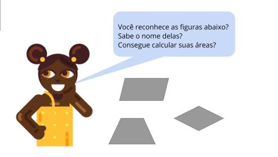 Qual é a área da figura desconhecida?