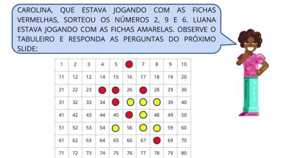 4 EM LINHA: escrita, leitura e análise de números de 2 algarismos