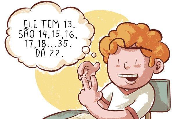 Contar nos dedos é uma opção, desde que a diferença entre os números seja pequena. Raphael Salimena