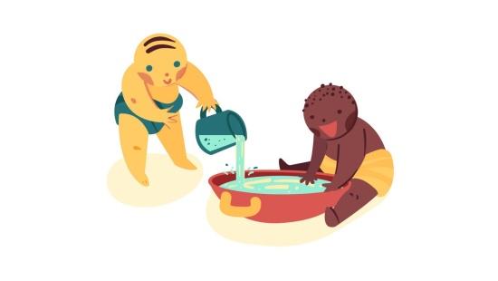 Brincando com água