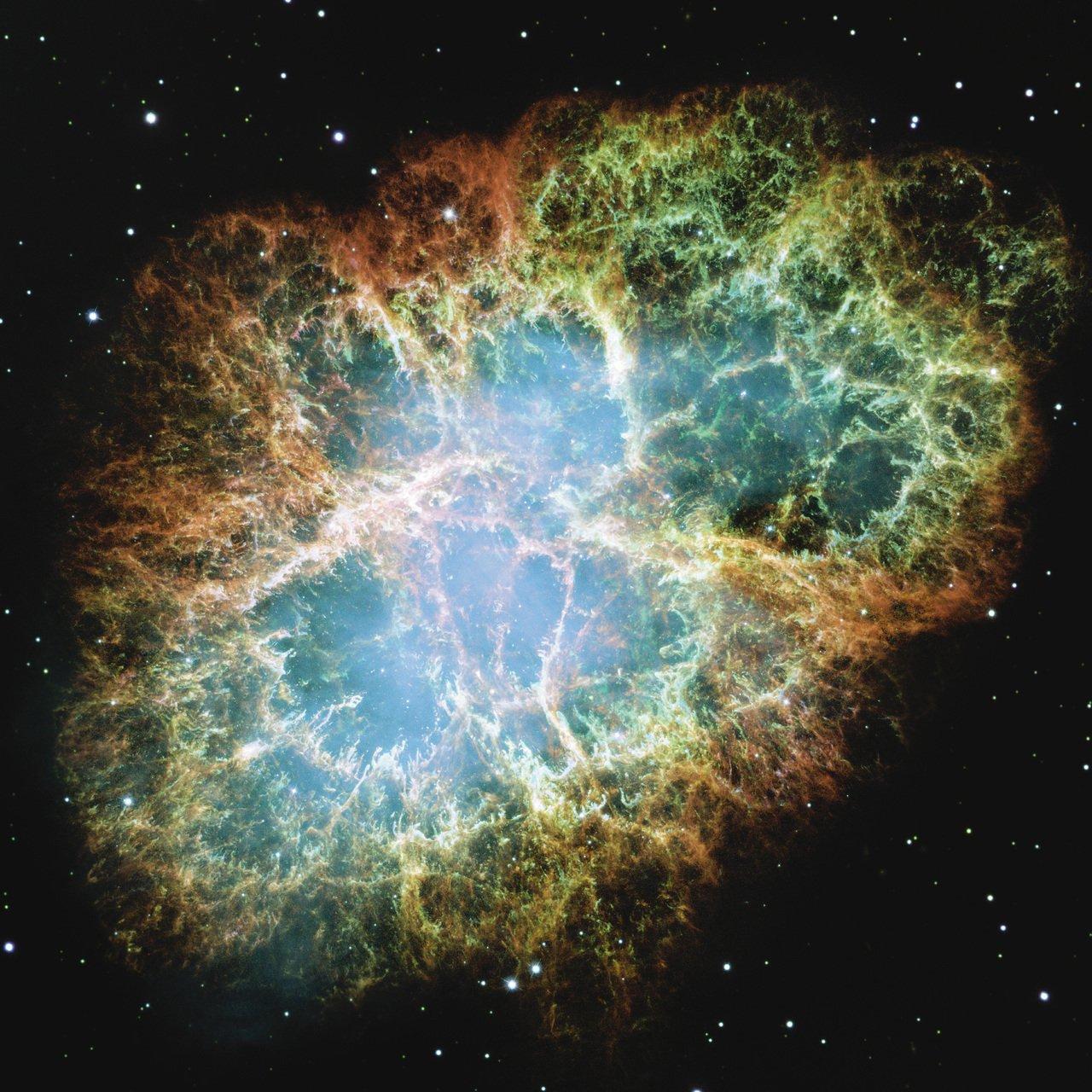 Nebulosa de Caranguejo em imagem feita pelo telescópio Hubble | Crédito: Nasa/divulgação