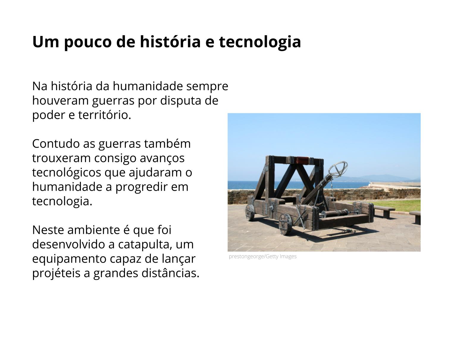 Máquinas simples: catapulta