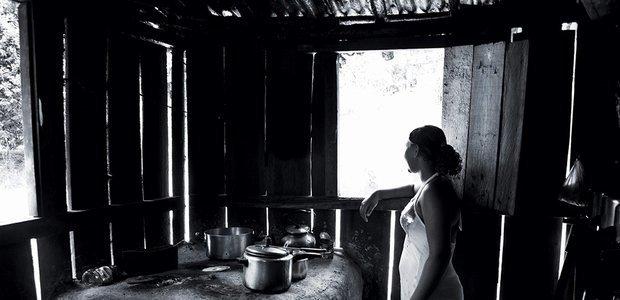 A falta de uma escola no quilombo faz com que Eduarda* esteja há quatro anos sem aula. Foto: Ricardo Toscani