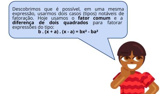 Fatoração da diferença de quadrados quando o coeficiente dominante é diferente de 1