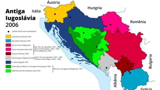 A desagregação da ex-Iugoslávia e a formação de novos Estados