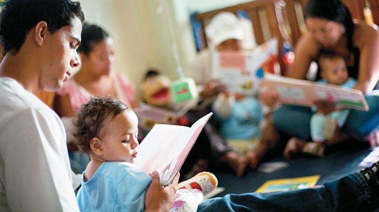 Uma das nove creches atendidas pelo projeto Espaço de Ler, Direito de Todos, em Belo Horizonte: incentivo à constante participação dos pais nas atividades de leitura. Foto: Leo Drumond/Ag. Nitro