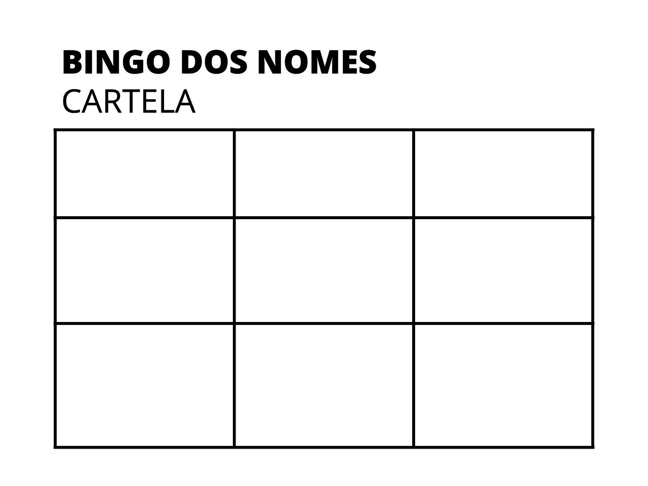 Plano De Aula 2º Ano Lingua Portuguesa Bingo Dos Nomes