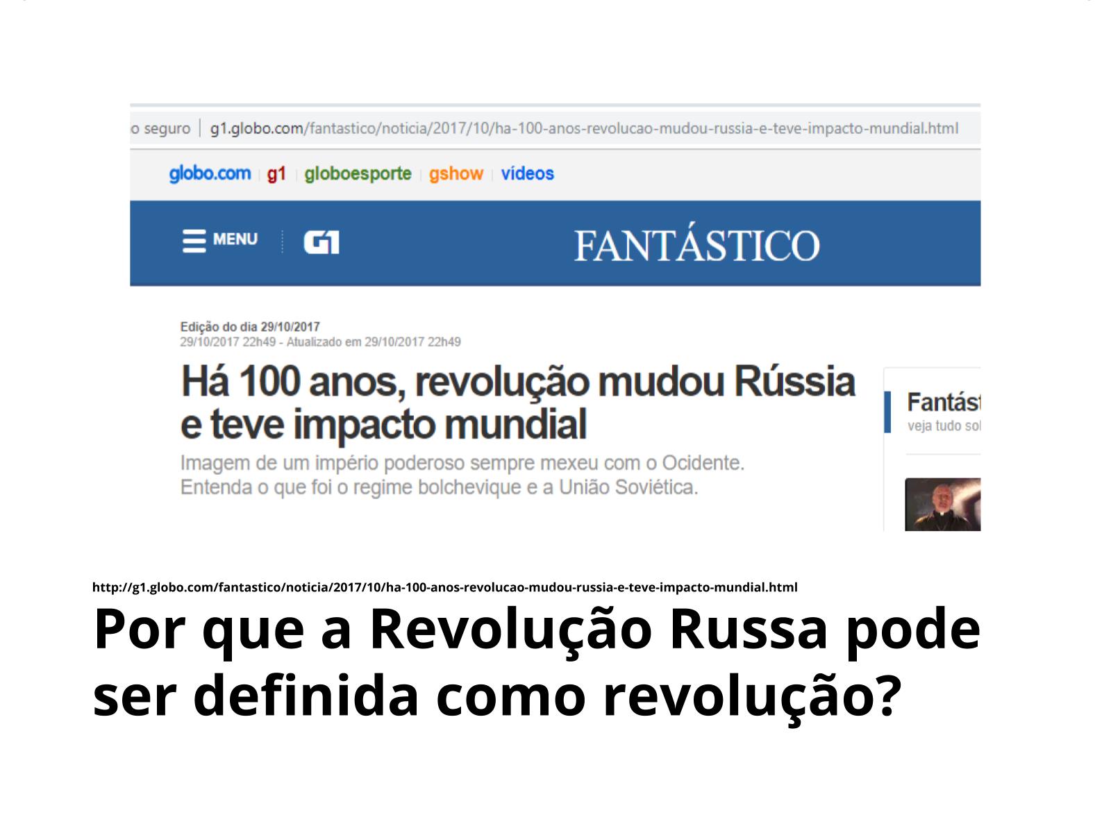 A Revolução Russa e o conceito de revolução