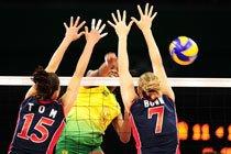 Seleção brasileira feminina enfrenta os Estados Unidos nos Jogos de Beijim 2008. Foto: Alexandre Battibugli