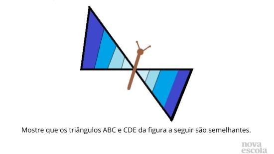Semelhança de Triângulos Obtidos por Retângulos e suas Diagonais.