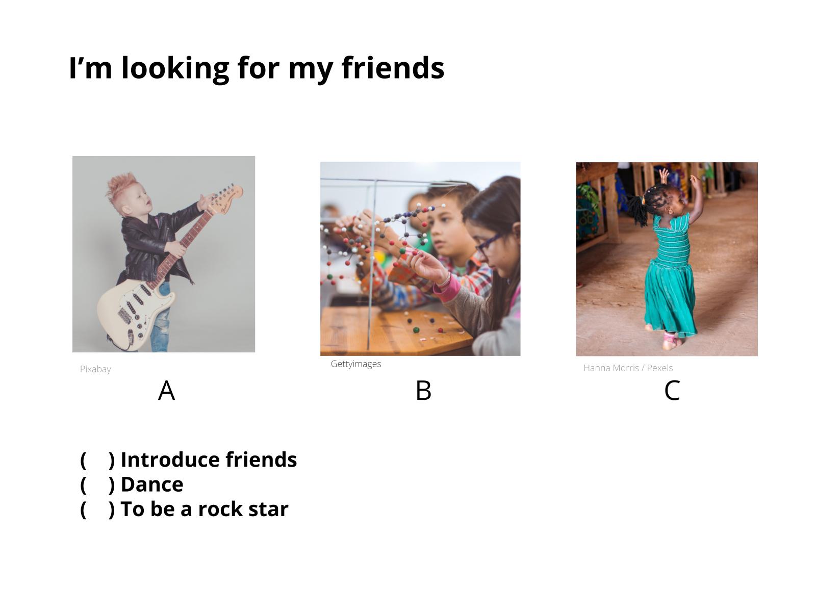 Fazer apresentações sobre os amigos