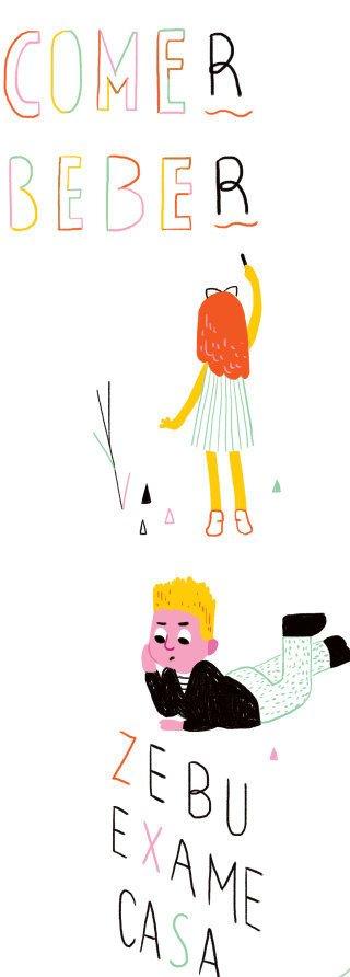 Análise das regularidades fornece pistas sobre a ortografa e ajuda a aprimorar a escrita. Ilustração Marcella Tamayo