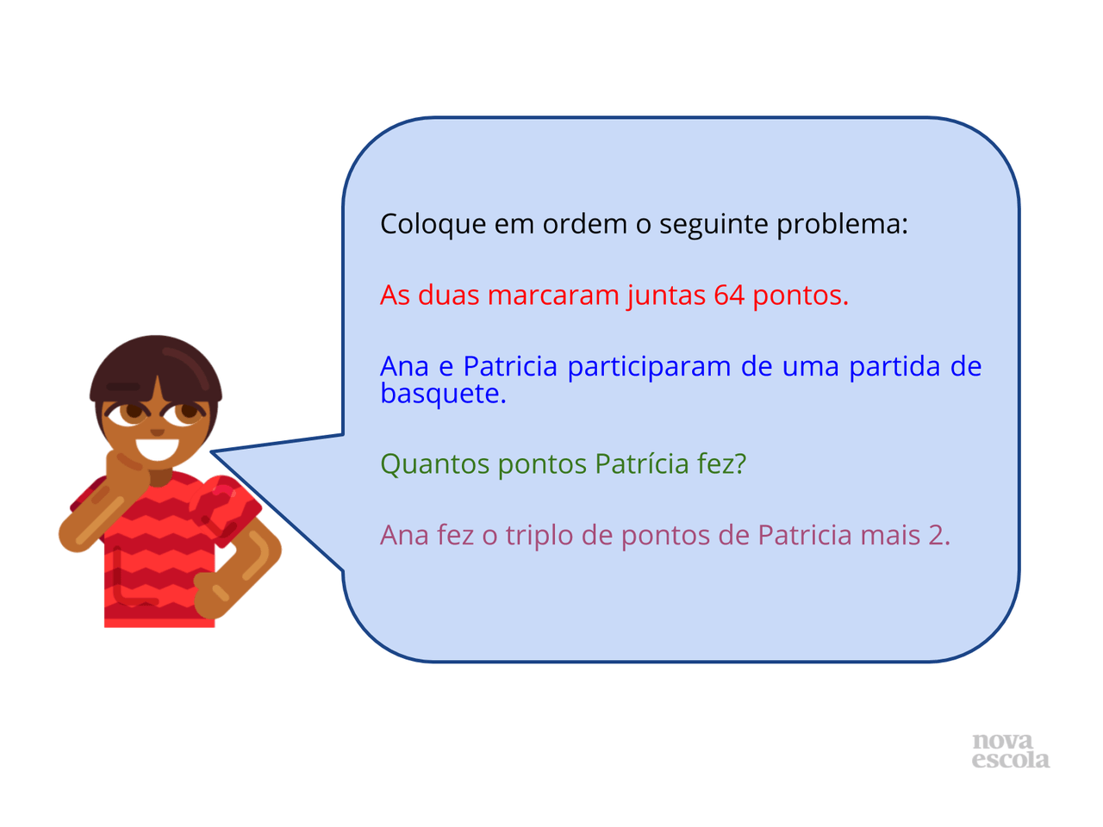 Problema matemático em tiras II