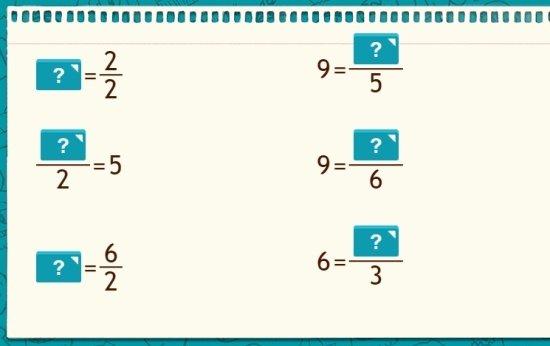 Frações e números inteiros