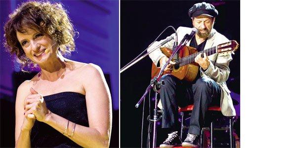 A atriz Denise Fraga, apresentadora da festa, e o cantor João Bosco também fizeram homenagens emocionadas aos mestres brasileiros. Fotos: Marina Piedade