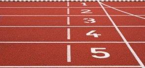 Números em pista de corrida