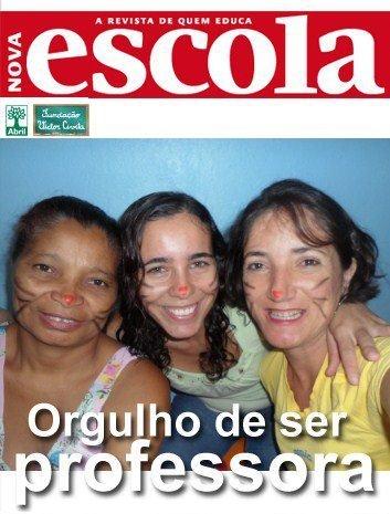 A professora Márcia Santos Silva e colegas na capa de Nova Escola