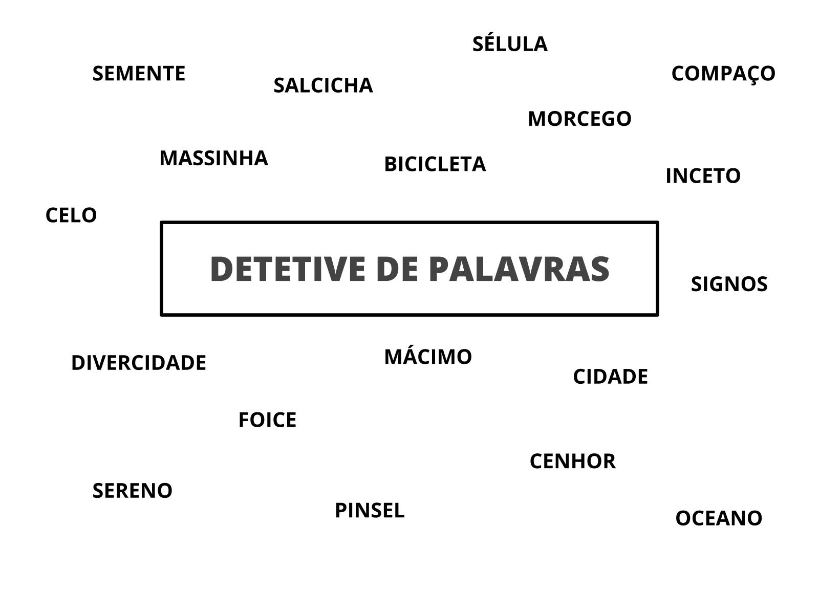 Palavras com fonema /s/