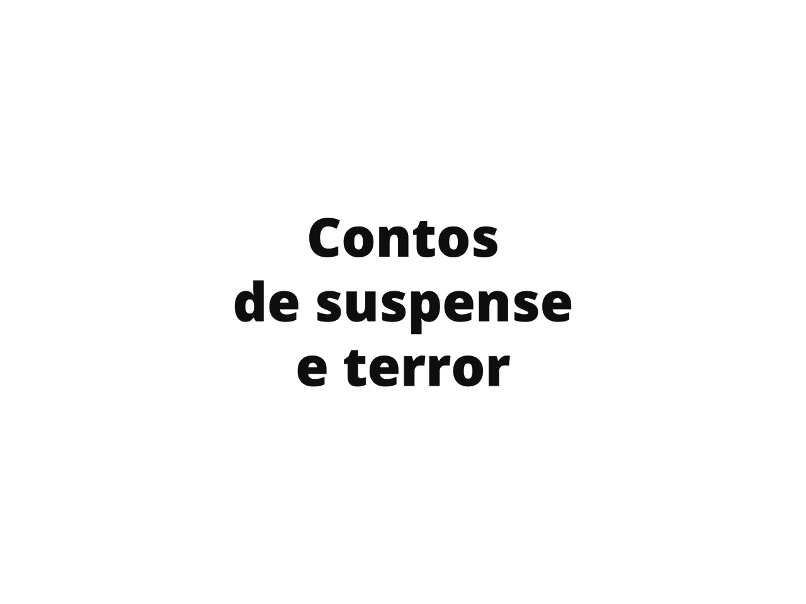 Produção de mapa mental: gênero conto de terror e suspense