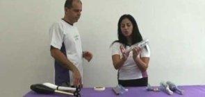 Materiais para as aulas de circo: claves de malabares