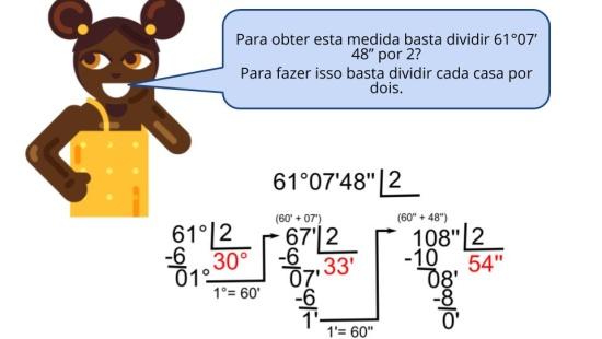 Os  ngulos e o Sistema de Numeração Sexagesimal de base 60.