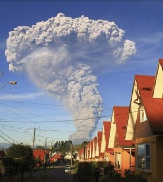 Cinzas do vulcão Calbuco, no Chile