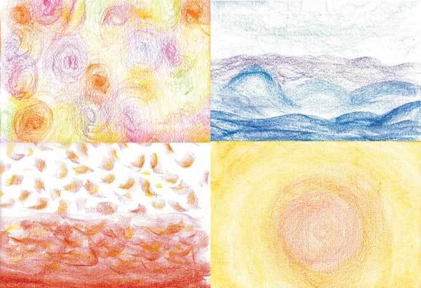 Primavera, inverno, outono e verão: tons diversos para mostrar as quatro estações