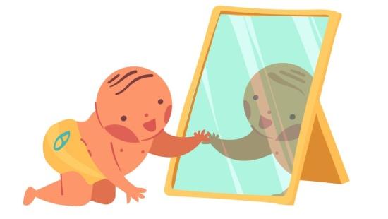 Brincadeiras no espelho