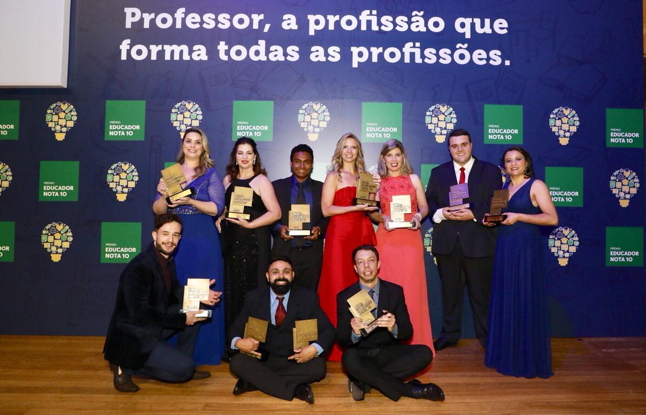 Os vencedores do Prêmio Educador Nota 10