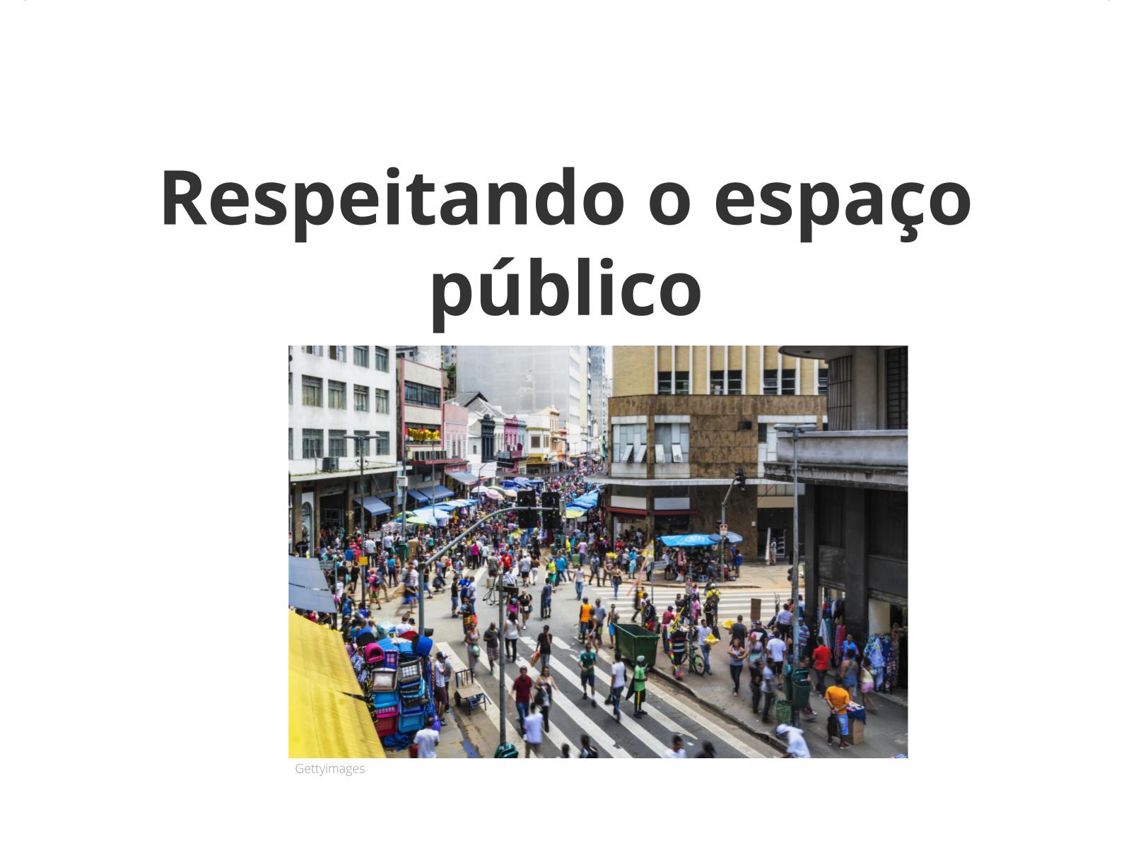 Esse espaço é público!