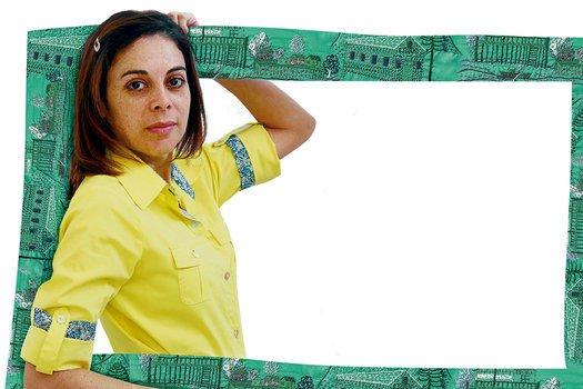 Elisangela Carolina Luciano. Foto: Manuela Novais. Ilustração Mãos de Ariadne