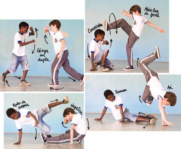 Para aprender a atacar e se defender, os alunos experimentaram os golpes em duplas. Fotos: Fernando Frazão