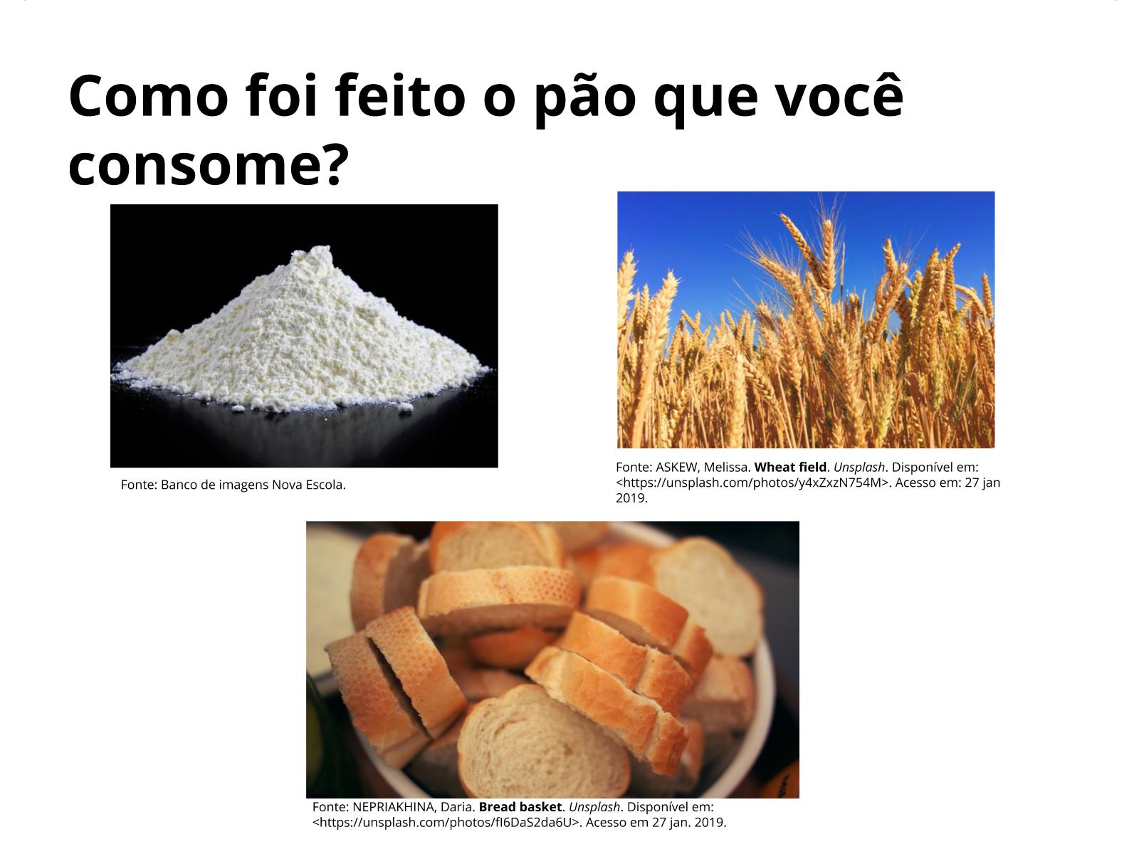 Produção do pão