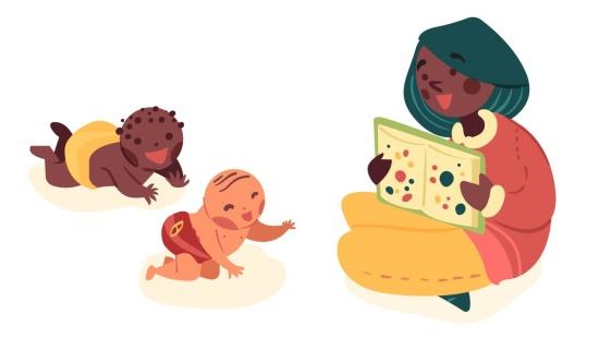 Leitura entre pares de bebês