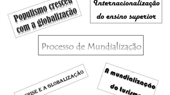 Diferenciar Internacionalização, mundialização e globalização