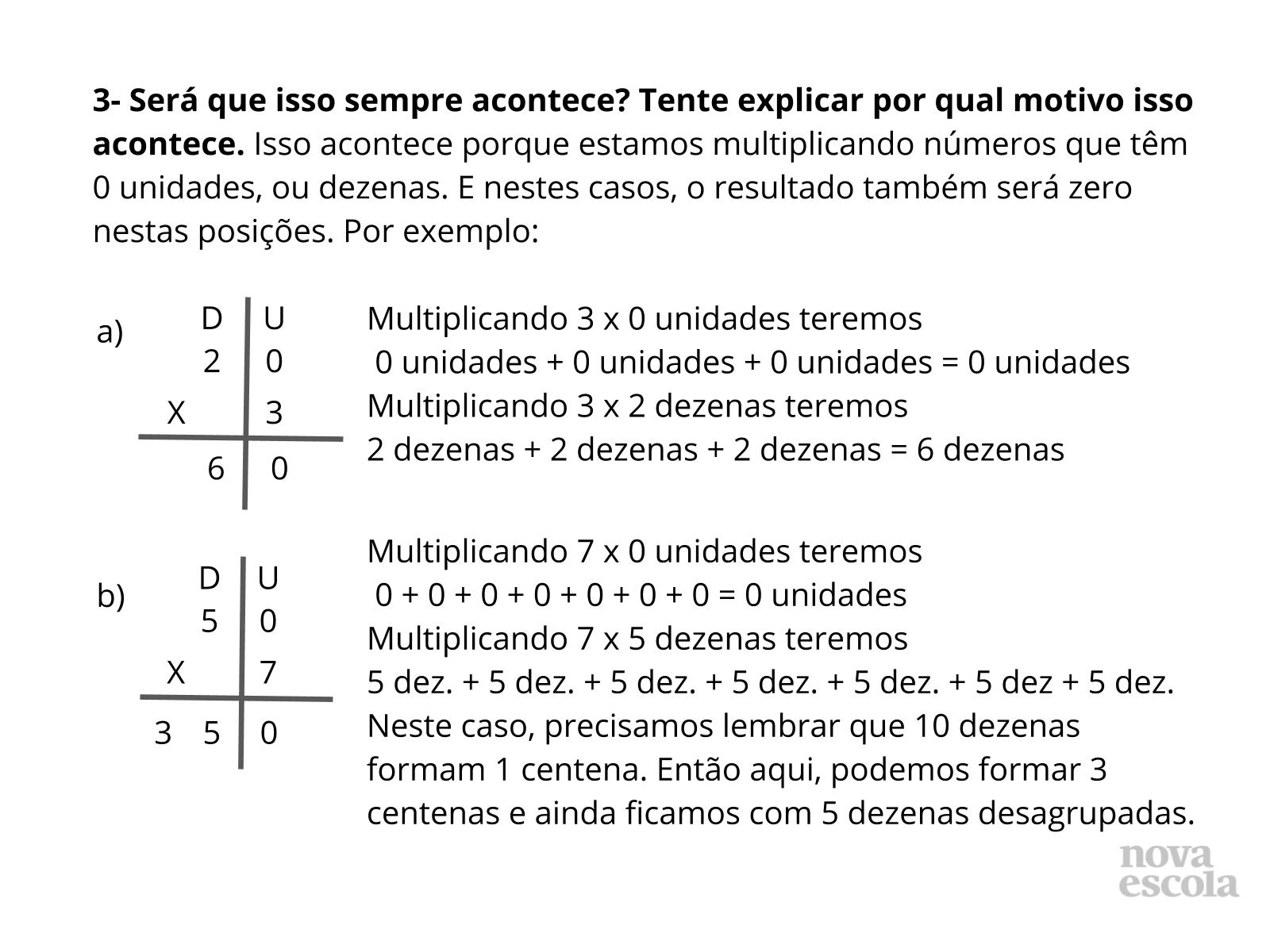 Multiplicações envolvendo o zero - E agora?