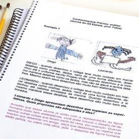ORIENTAÇÃO PRÁTICA Análise do coordenador, em vermelho, dá dicas úteis para o professor dar continuidade à atividade. Foto: Christian Parente