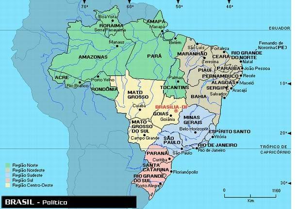 Mapa do Brasil - Político. Fonte: http--www.portalbrasil.net-images-mapabrasil.jpg