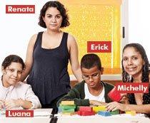 Michelly, Luana, Renata e Erick. Foto: Andrea Marques/Fotonauta
