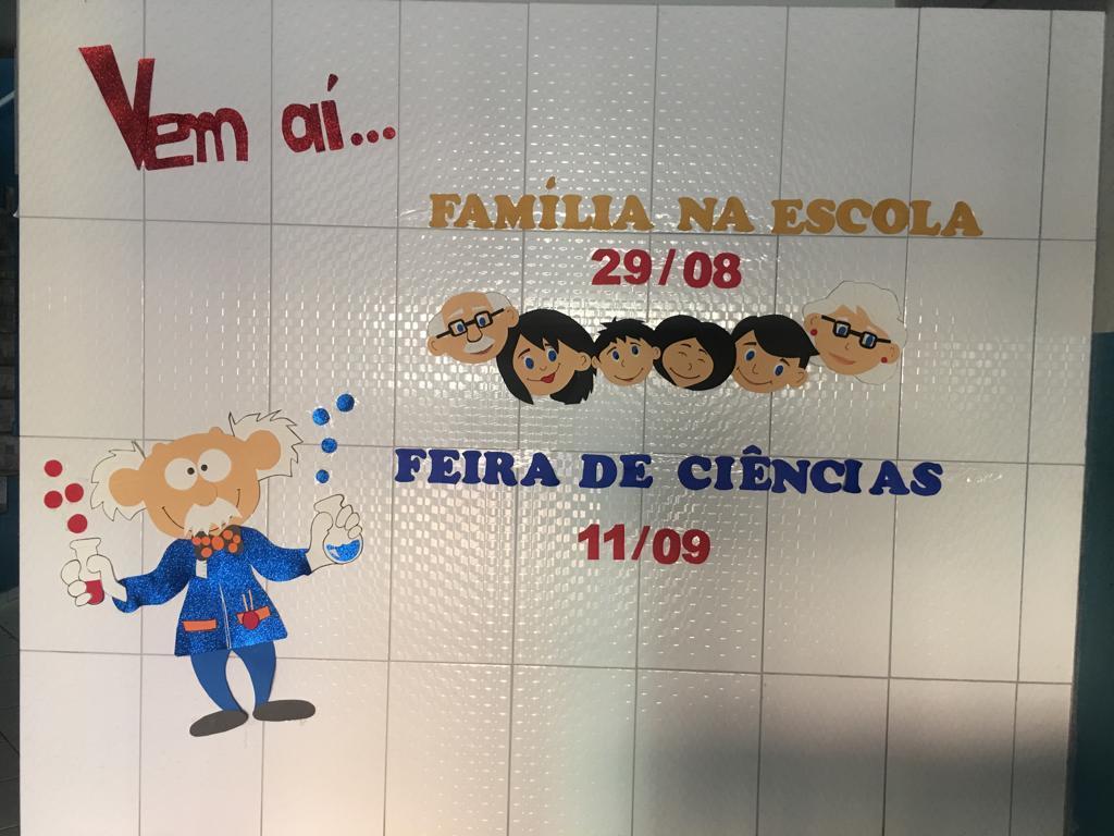 Aviso para o Dia da Família e para a Feira de Ciências na EMEIEF Boa Vista do Sul