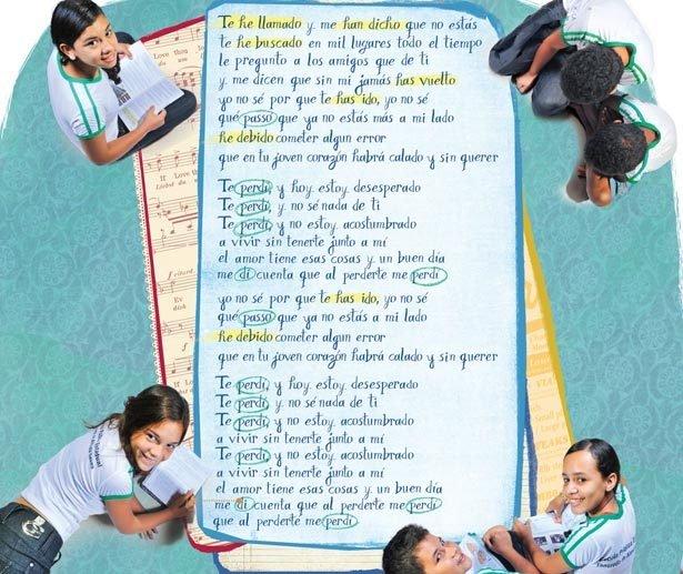 Aumente o som para ensinar conteúdos de espanhol. Foto Roberto Pinheiro. Ilustração Larissa Ribeiro