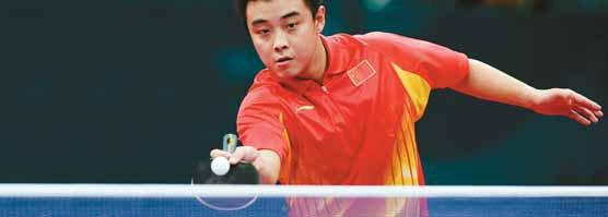 SÓ DÁ A CHINA Campeão olímpico Wang Hao, um dos quatro melhores do mundo na categoria. Foto: Christof Koepsel