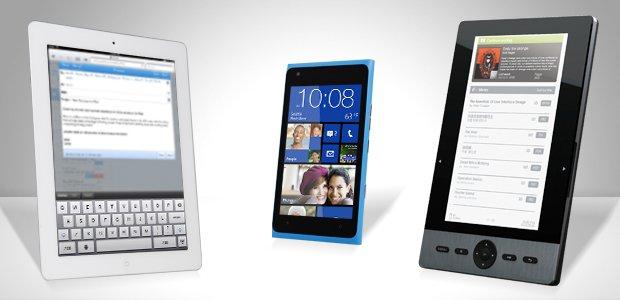 Tablet, smartphone e e-reader. Imagem: André Menezes