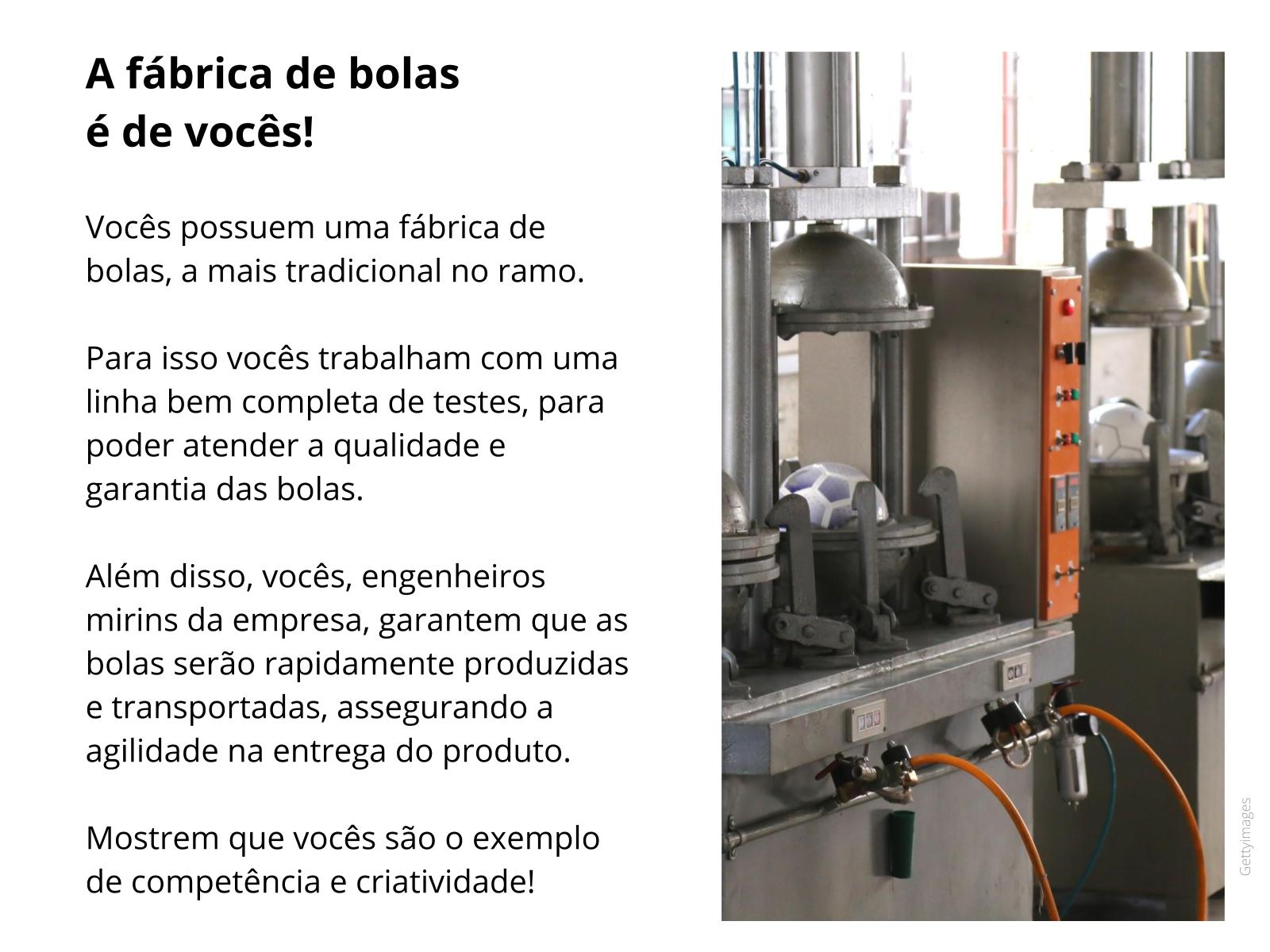 Máquinas simples: fábrica de bolas